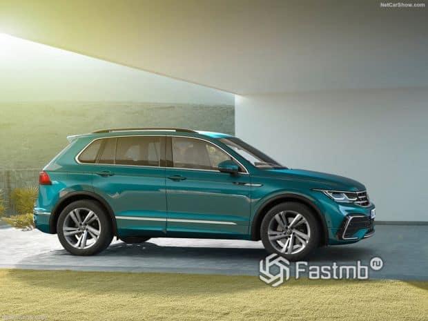 Volkswagen Tiguan 2021, вид сбоку справа